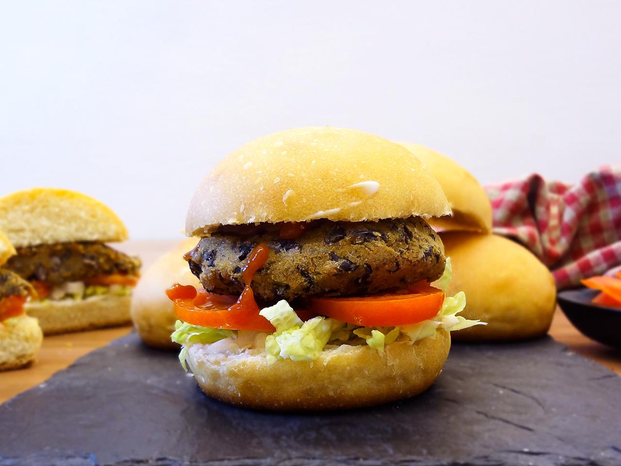 Pão de Hambúrguer Vegano